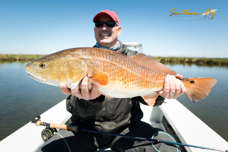 Fly fishing Louisiana Inshore Marsh with Redfish and more