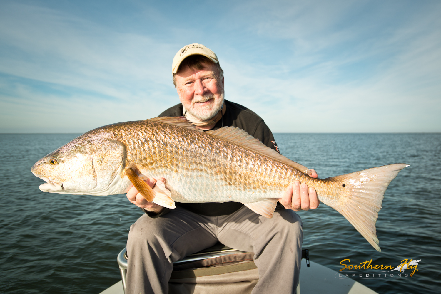 Fishing guides in Louisiana - Southern Fly Expeditions fly fishing for redfish