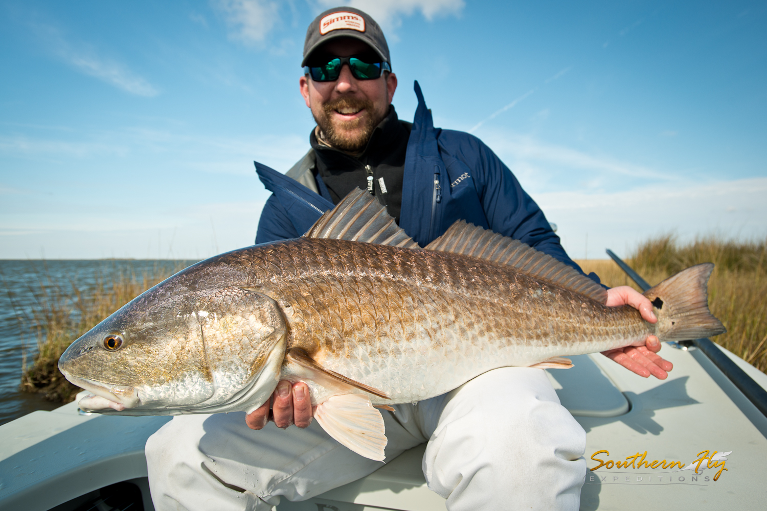 Fly Fishing in the Spring for redfish with southern fly expeditions of New Orleans Louisiana