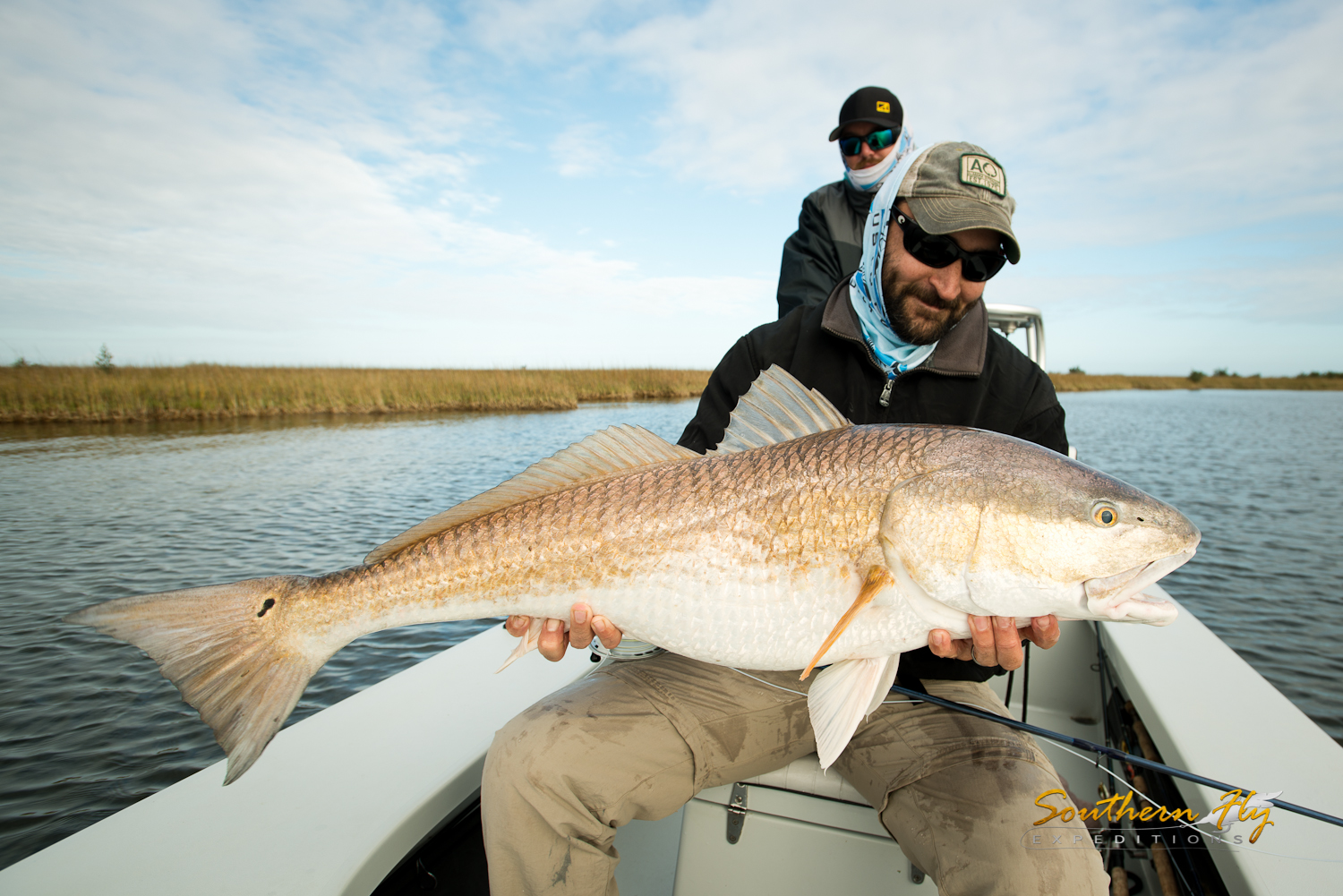 Fly fishing outside of new orleans louisiana with southern fly expeditions and captain brandon keck
