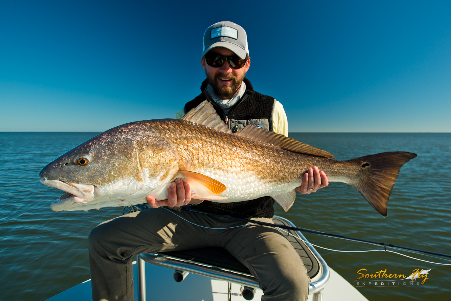 fly fishing for redfish in louisiana with Southern Fly Expeditions - the best fly fishing guide in the state of Louisiana