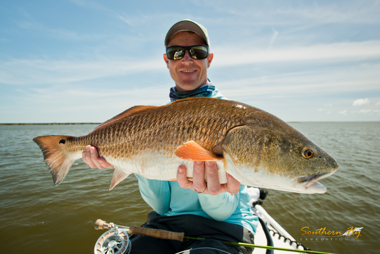 fly fishing for redfish in new orleans louisiana with Southern Fly Expeditions