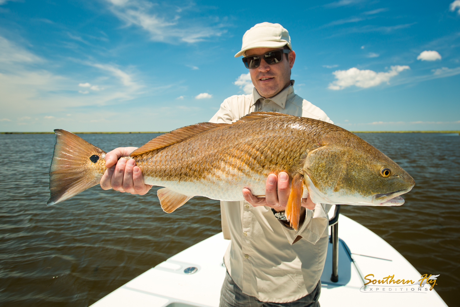 Oklahoma Anglers try Fly Fishing New Orleans Style Red Fish