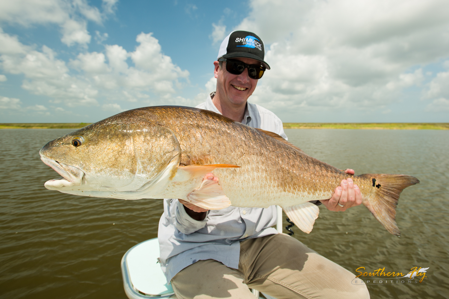 Fly Casting Louisiana Marsh with Redfish Guide Captain Brandon Keck New Orleans
