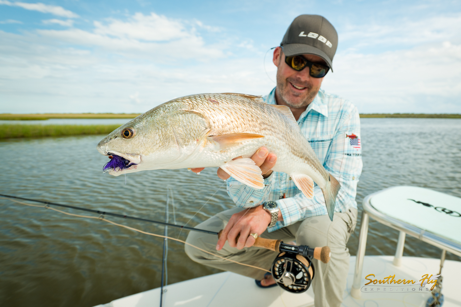 Redfish Charter New Orleans Light Tackle Shallow Water Fly Fishing
