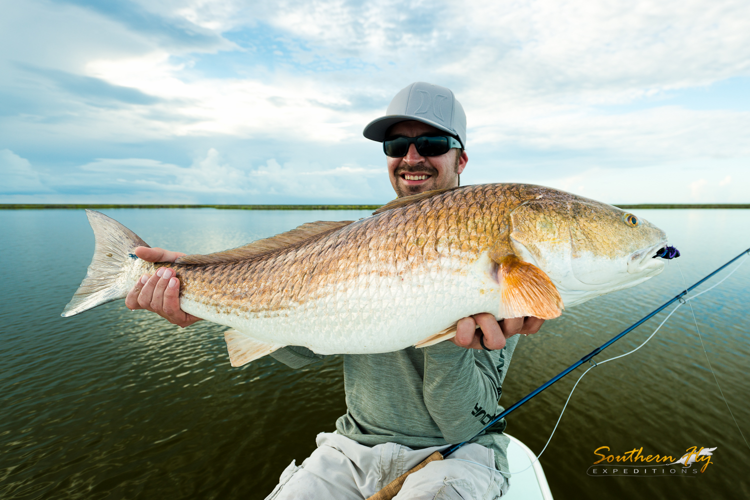 fly fishing for redfish in the marsh of louisiana with southern fly expeditions