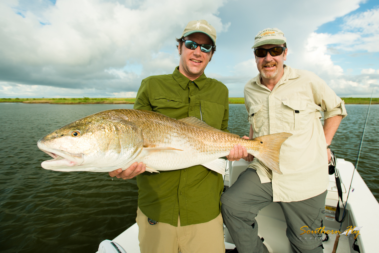 Best redfish guide in Louisiana - Southern Fly Expeditions fishing for redfish