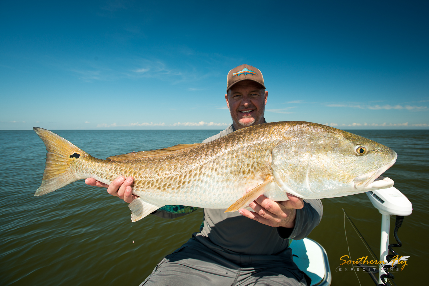 Southern Fly Expeditions fly fishing for redfish in Louisiana - when is the best time to fly fish in louisiana