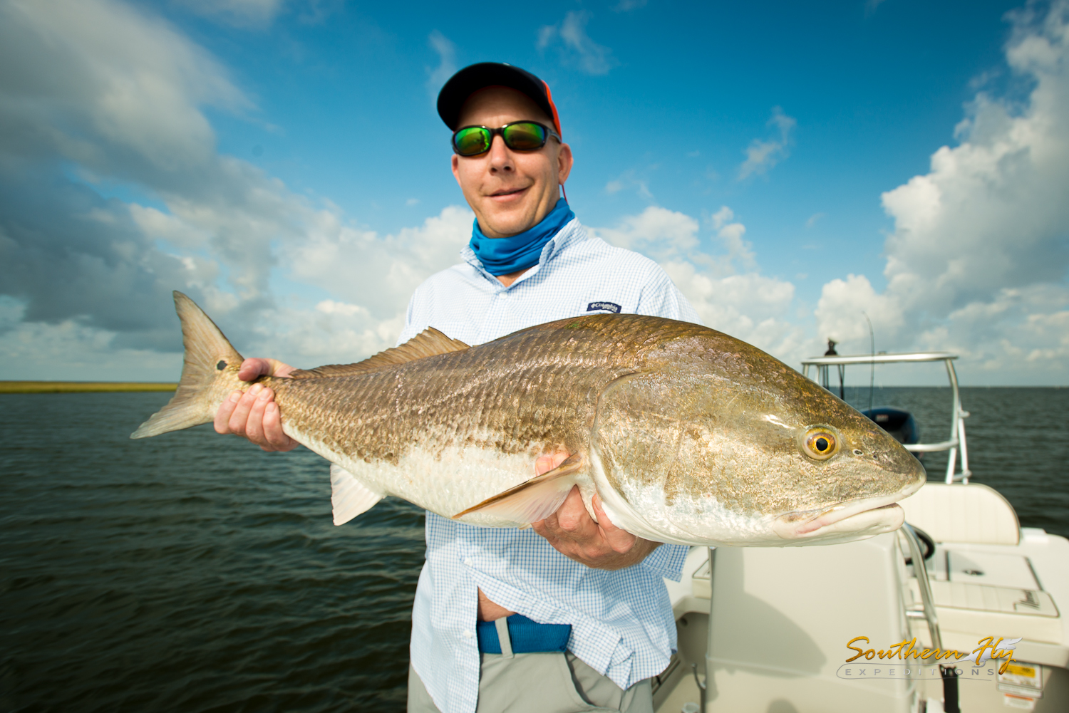 charter fly fishing for redfish with Southern Fly Expeditions