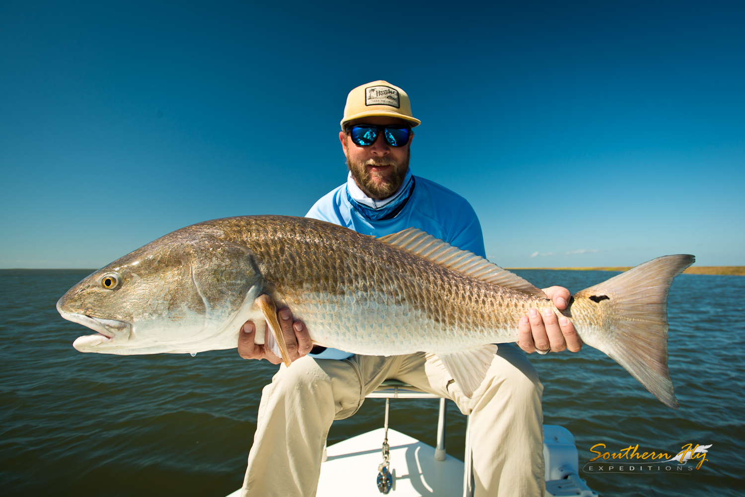 fly fishing charter louisiana - marsh and inshore redfish fishing Southern Fly Expeditions