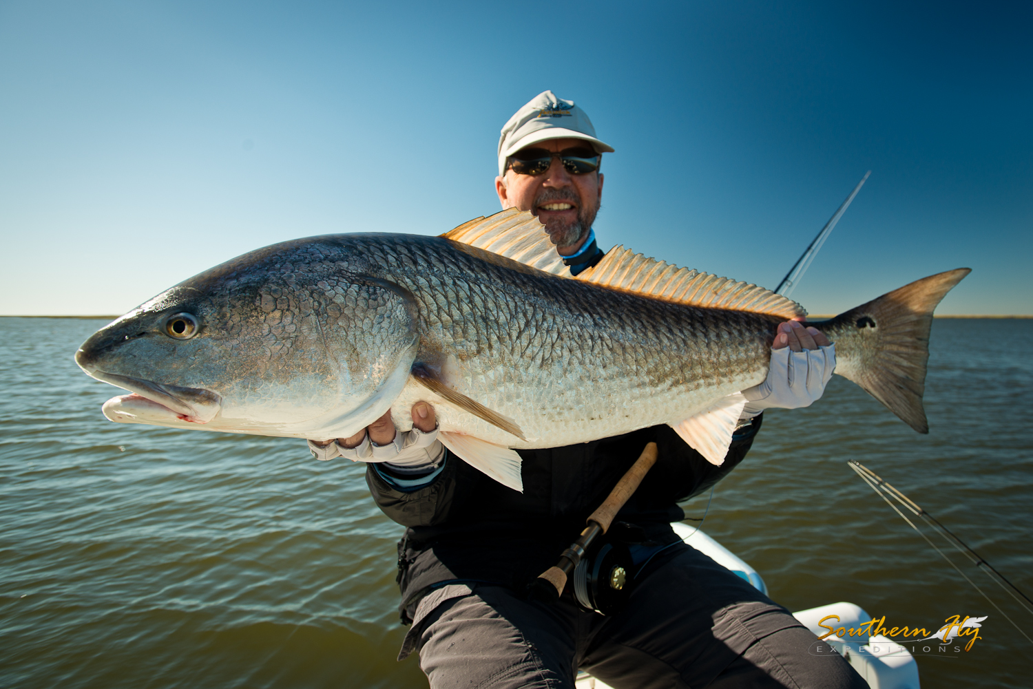 Fly Fishing New Orleans for Huge monster Redfish Southern Fly Expeditions