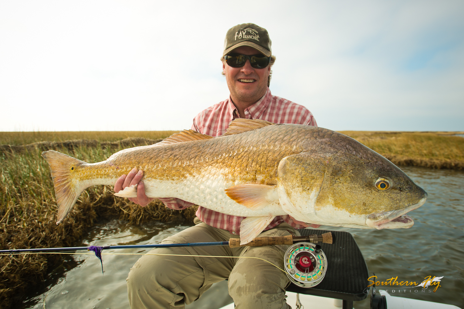Sight fishing Louisiana with Southern Fly Expeditions