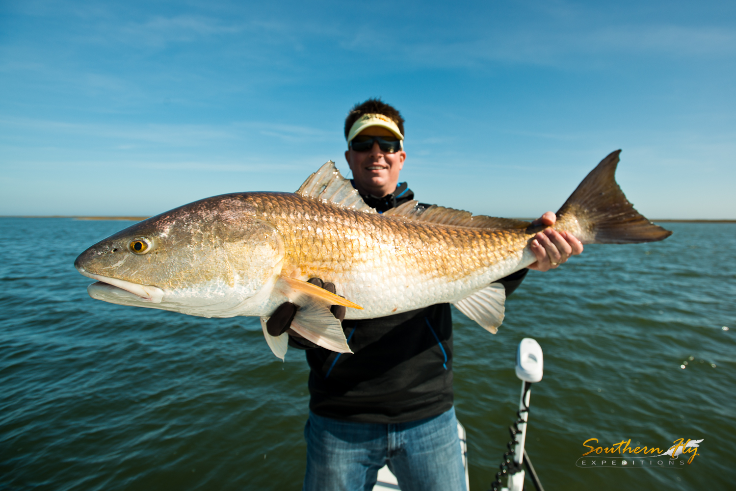 Catching 30 lb Redfish New Orleans Southern Fly Expeditions