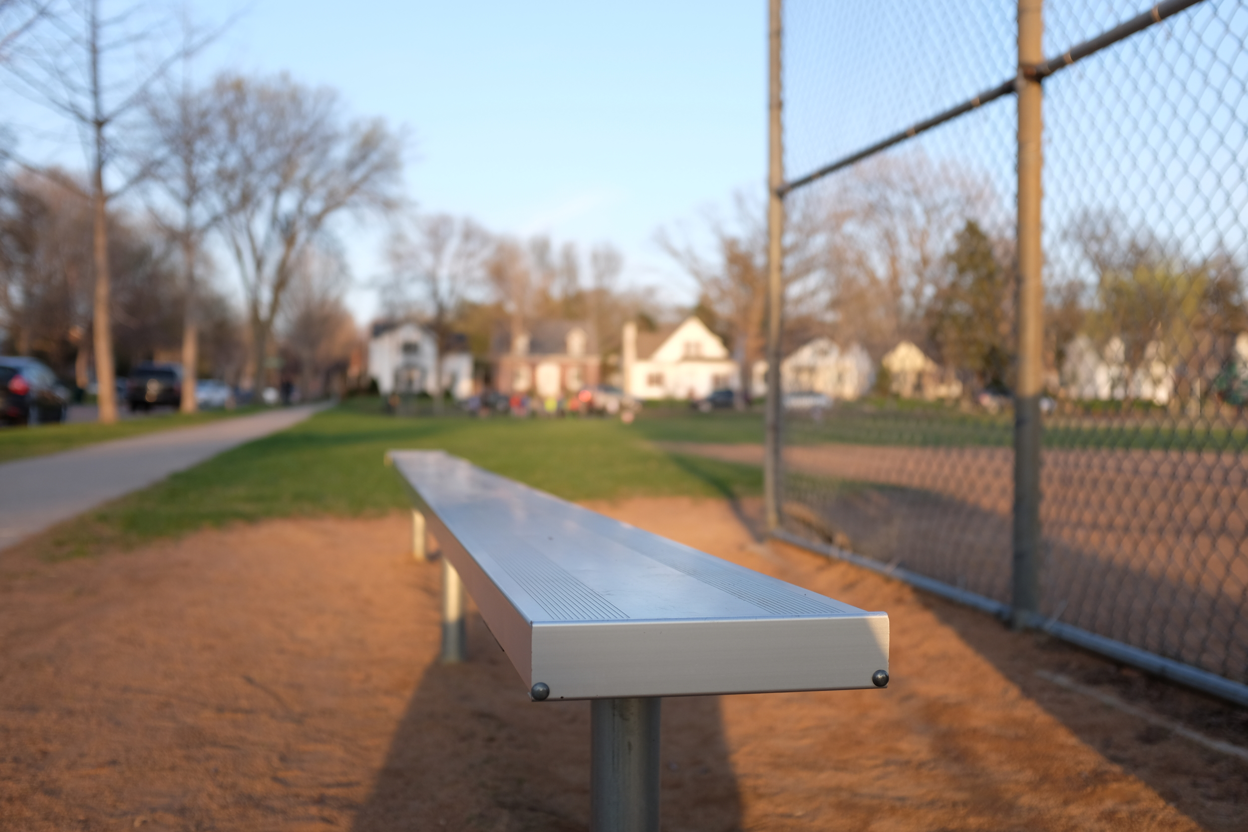 After practice. One of the ball fields in the neighborhood. Highland Park, Saint Paul, Minnesota.