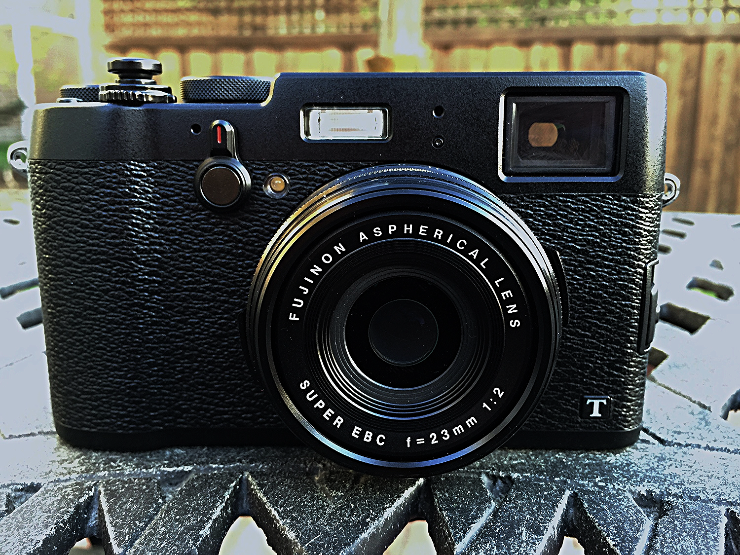 My new Fuji X100T, Photo taken with iPhone 6Plus, Camera+ app.