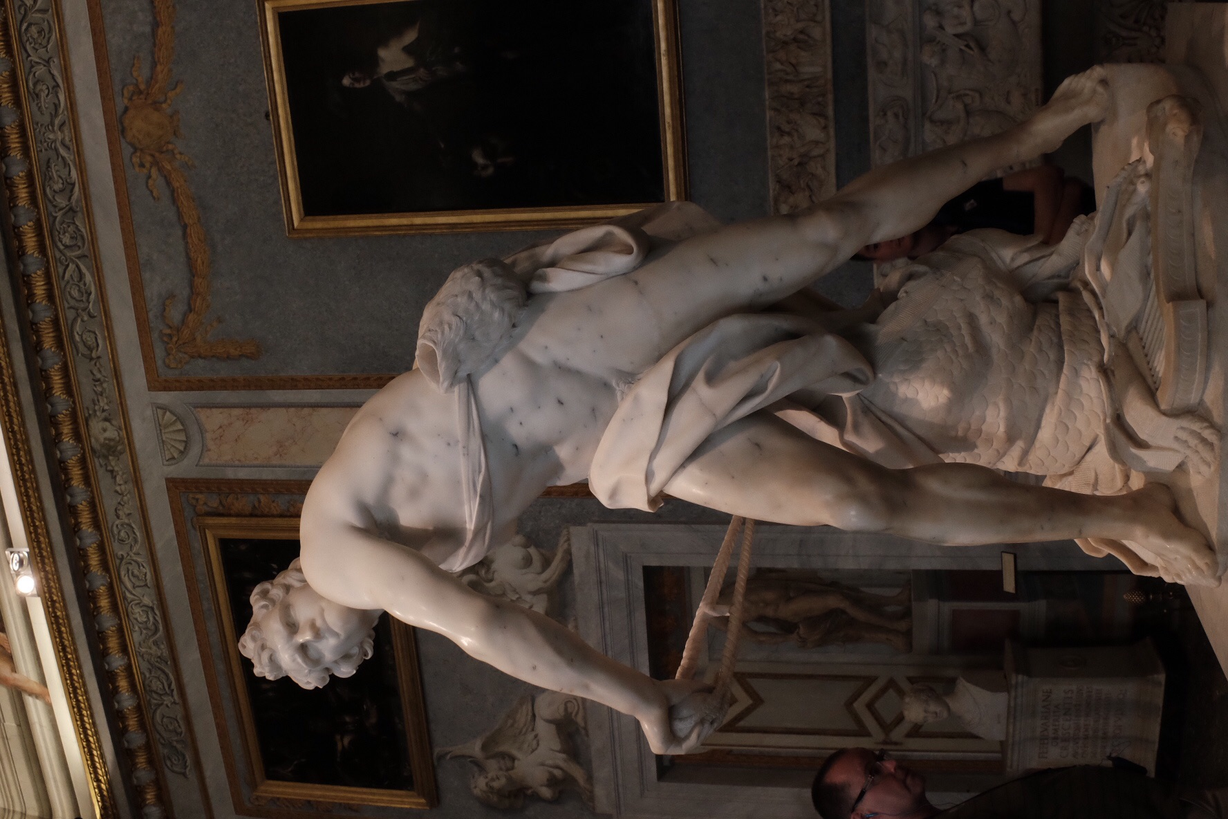 Bernini's David at the Borghese Gallery