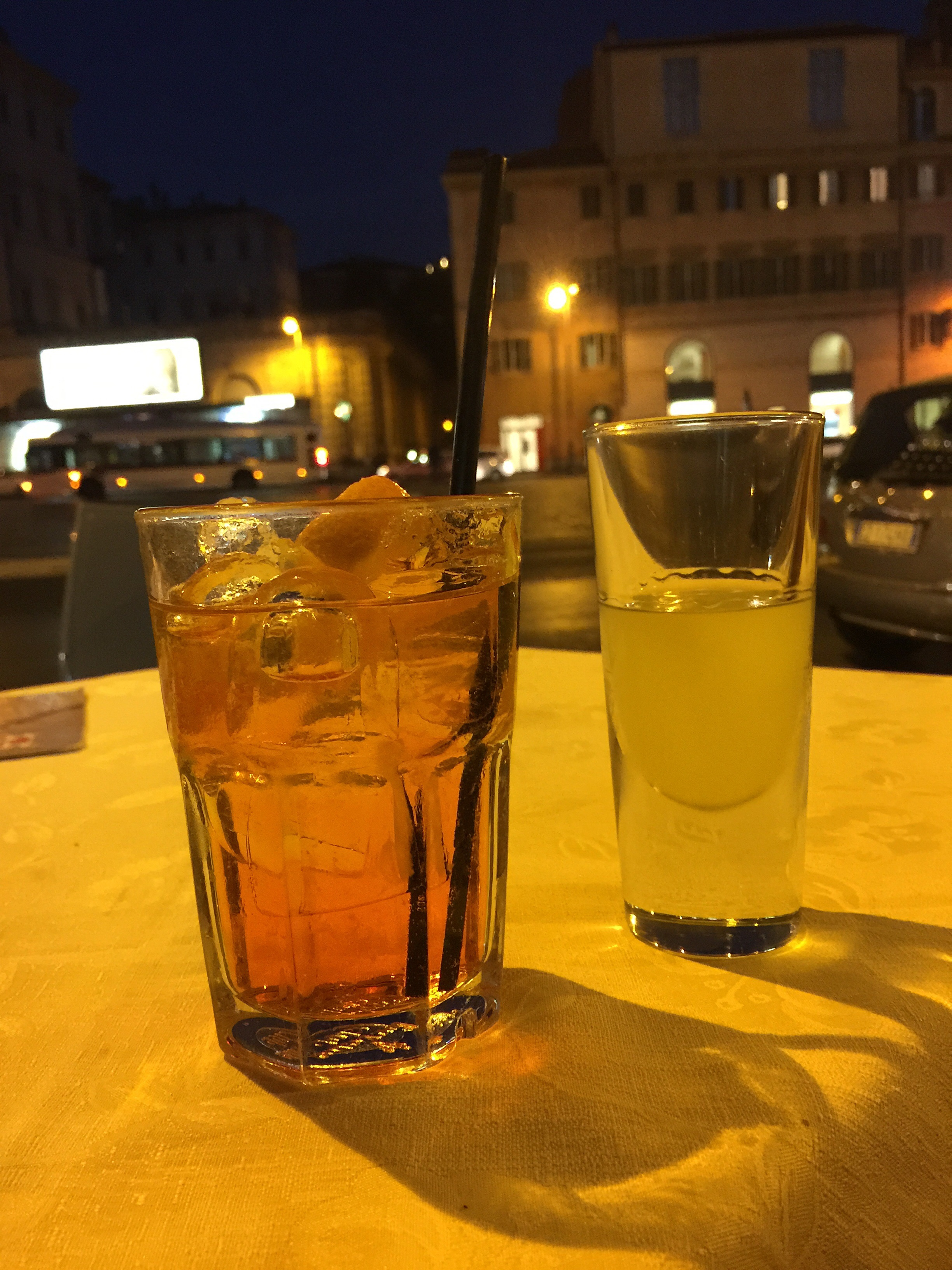 After dinner drinks at Piazza Bernini