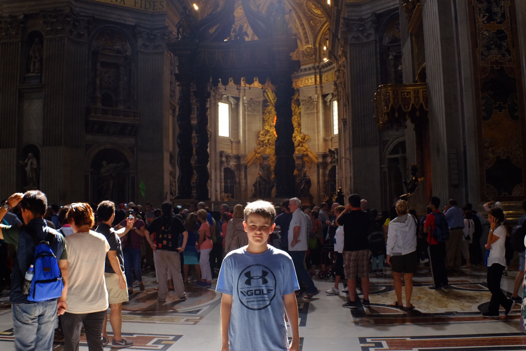 My ray of light inside St Peter's Basilica