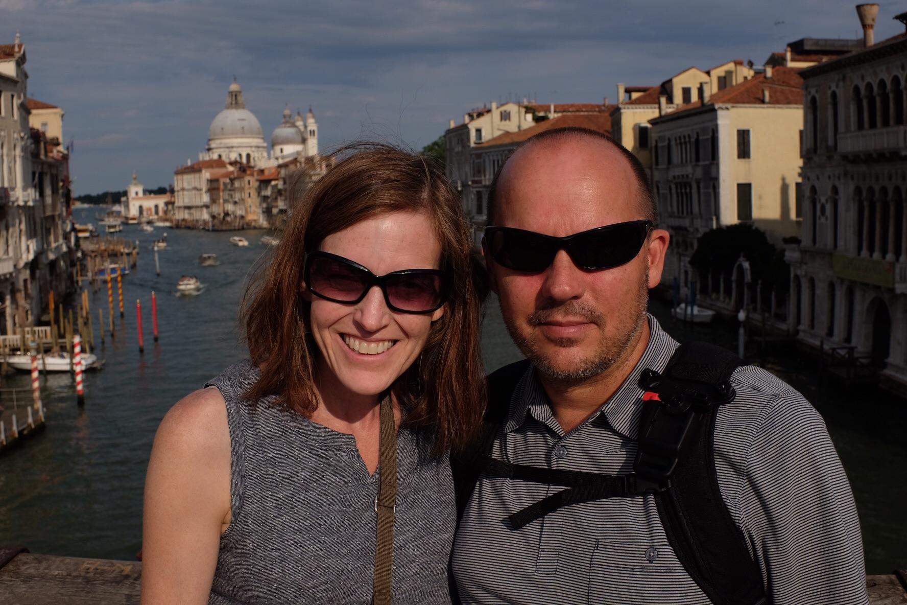 Tin and me on the Accademie Bridge