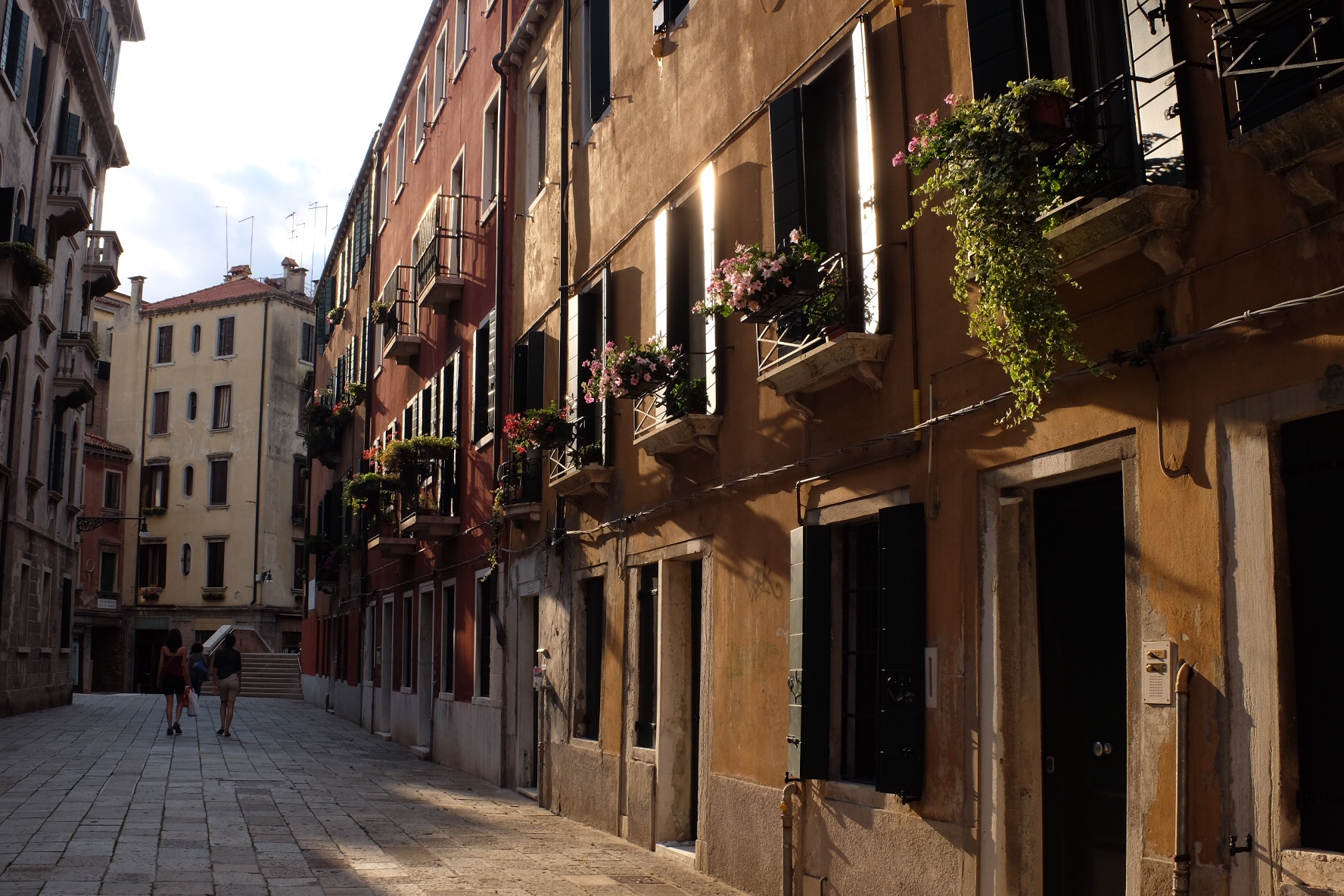 This is a wide street in Venice