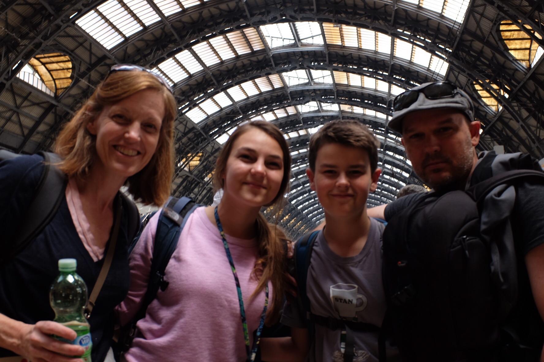 At Milan Central train terminal