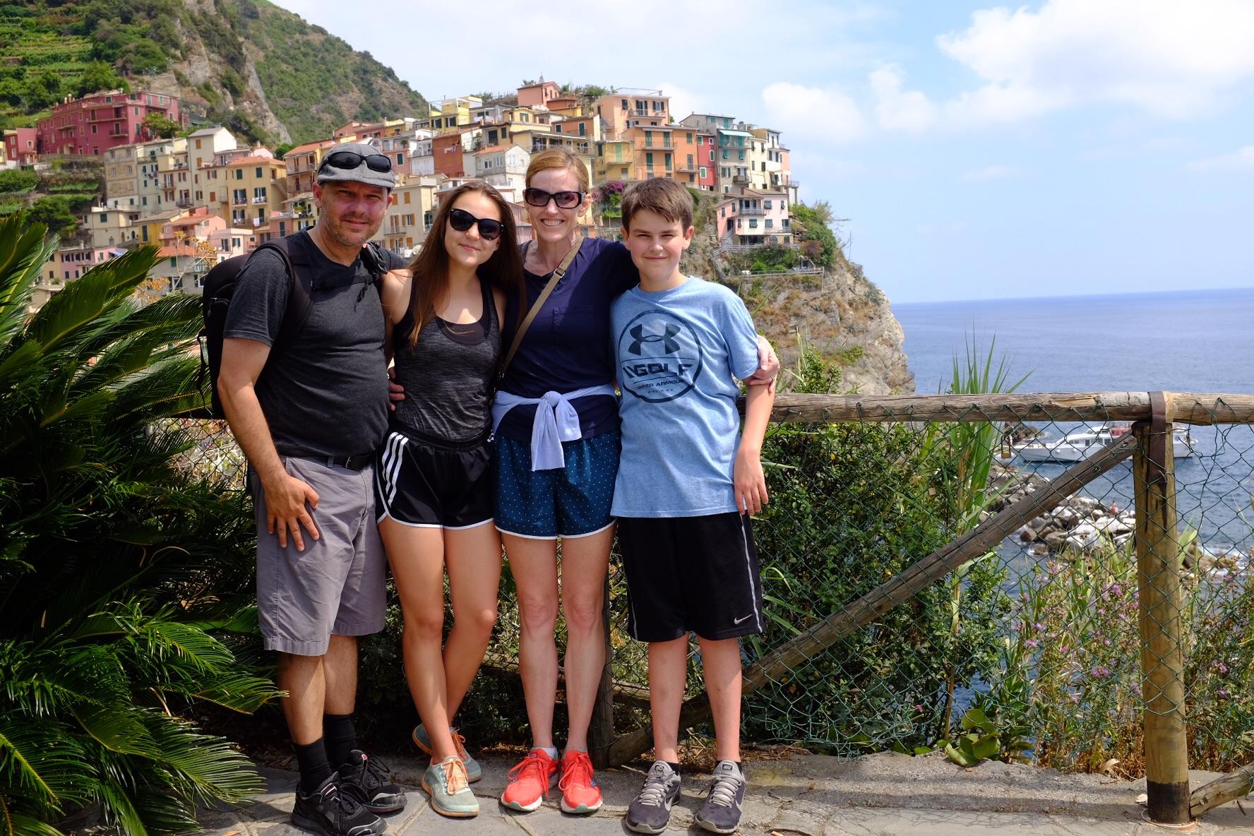 Family photo (missing: Jenny Craig)