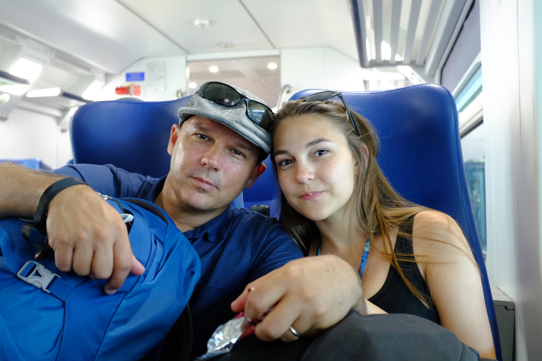 Syd and me riding the rails