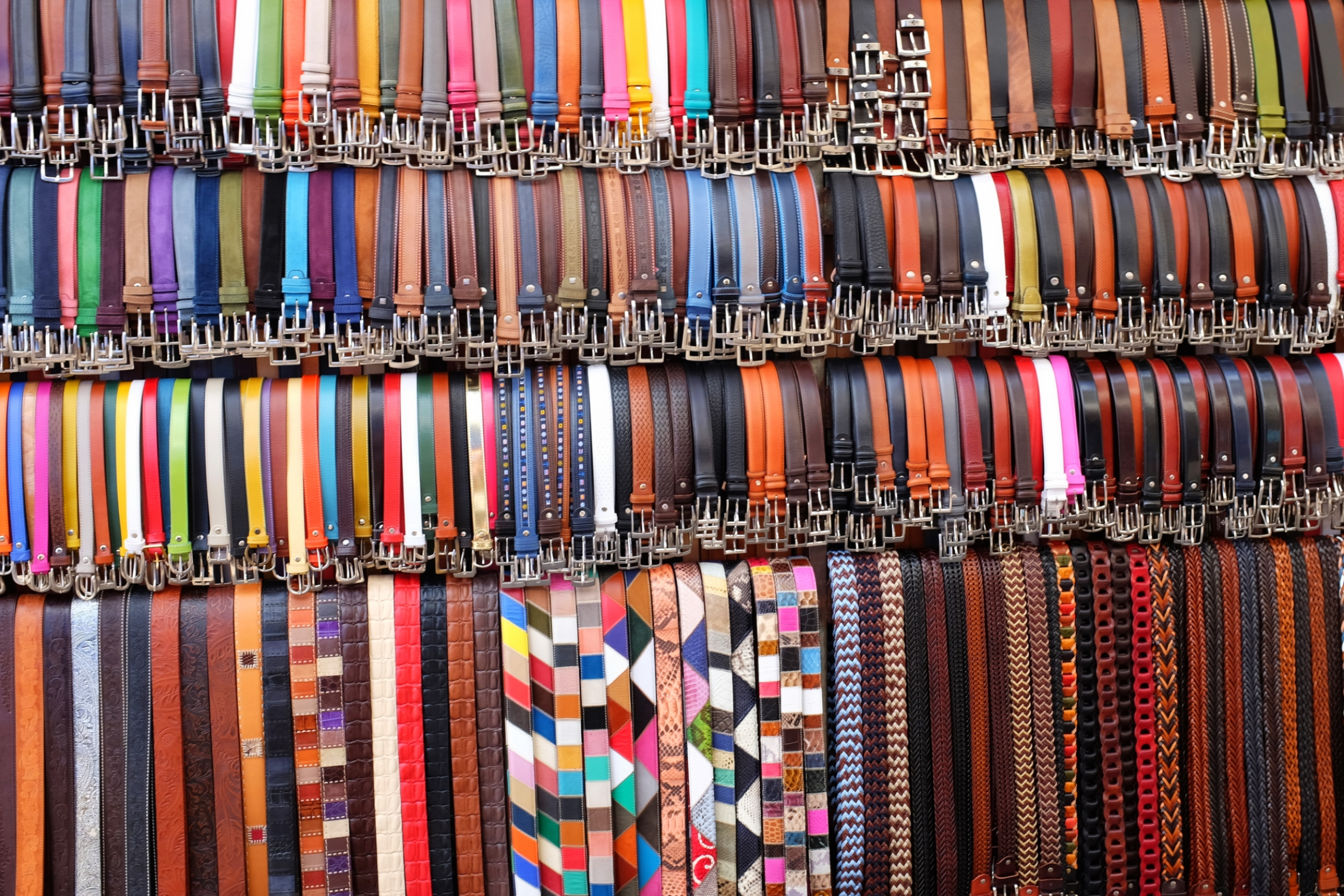 Florence Mercato Centrale leather belts
