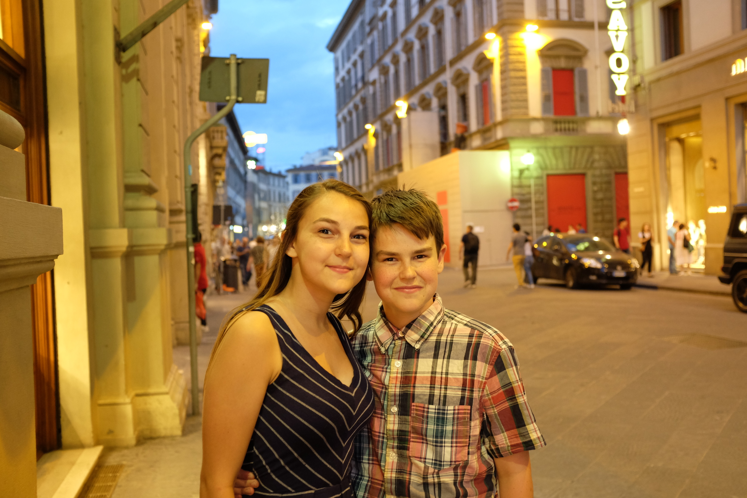 Syd and Sam out and about in Florence
