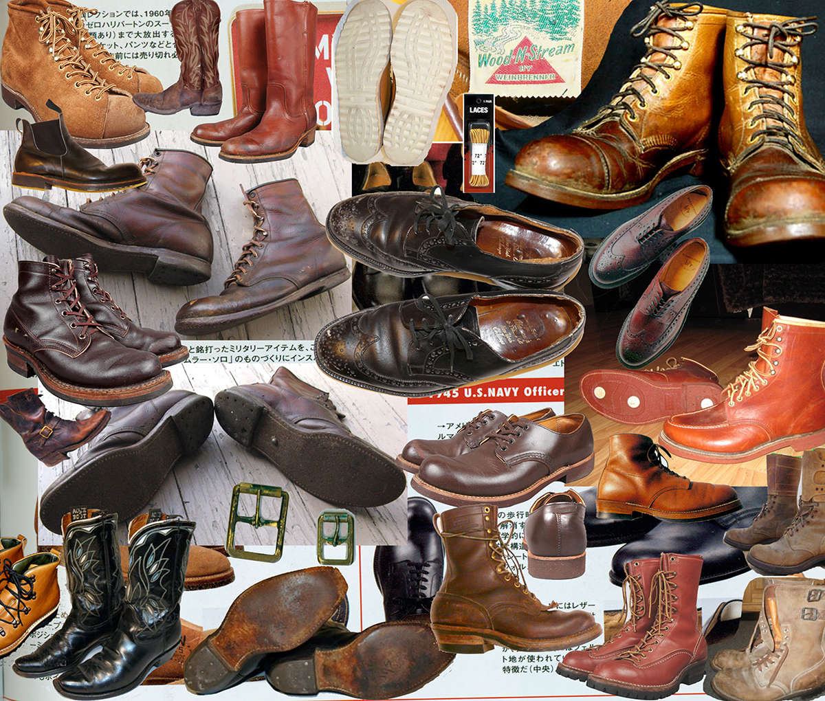 Inspiration board for RRL Boots & Shoes