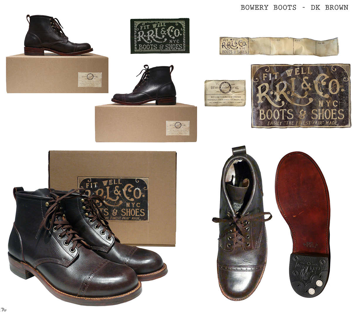 RRL Bowery Boots