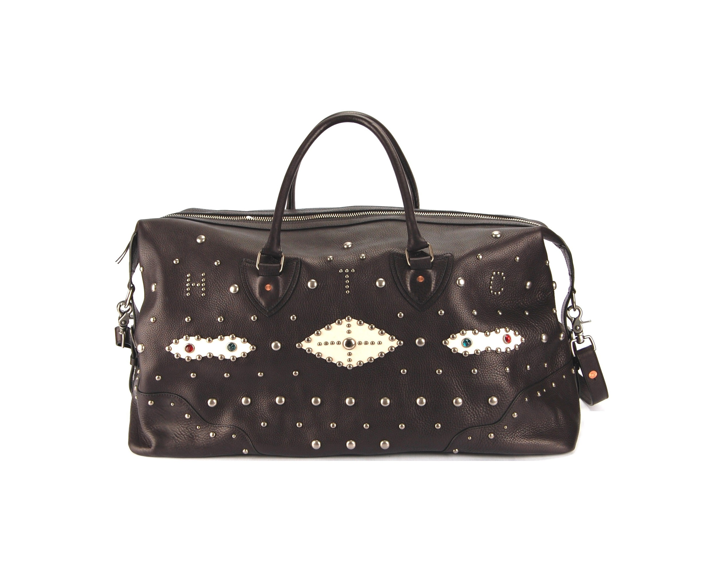 HTC Studded Leather Weekender
