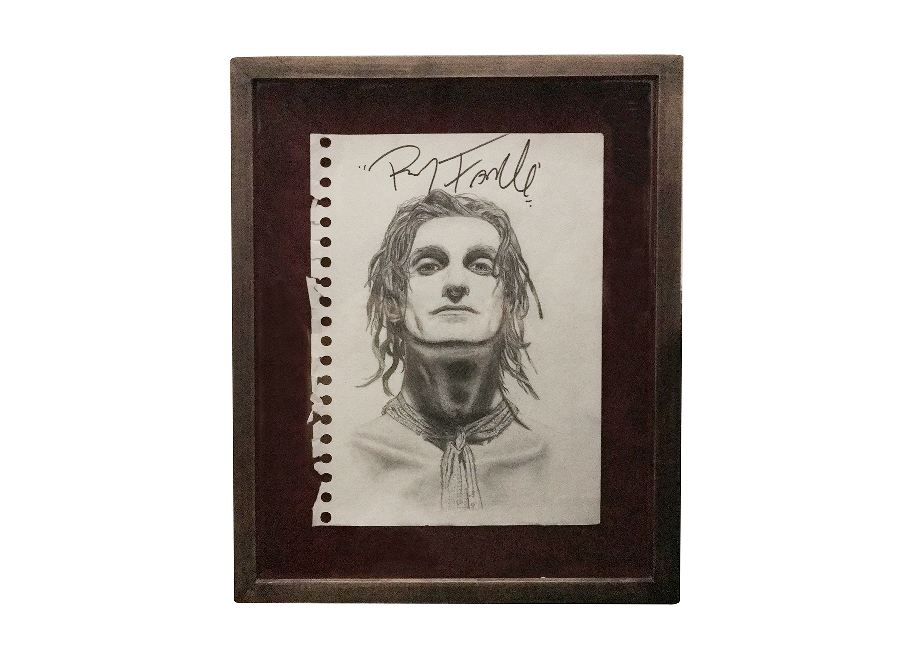 Perry (1991) (signed by Perry Farrell in 2003 at Tower Records NYC)-  Pencil on Paper