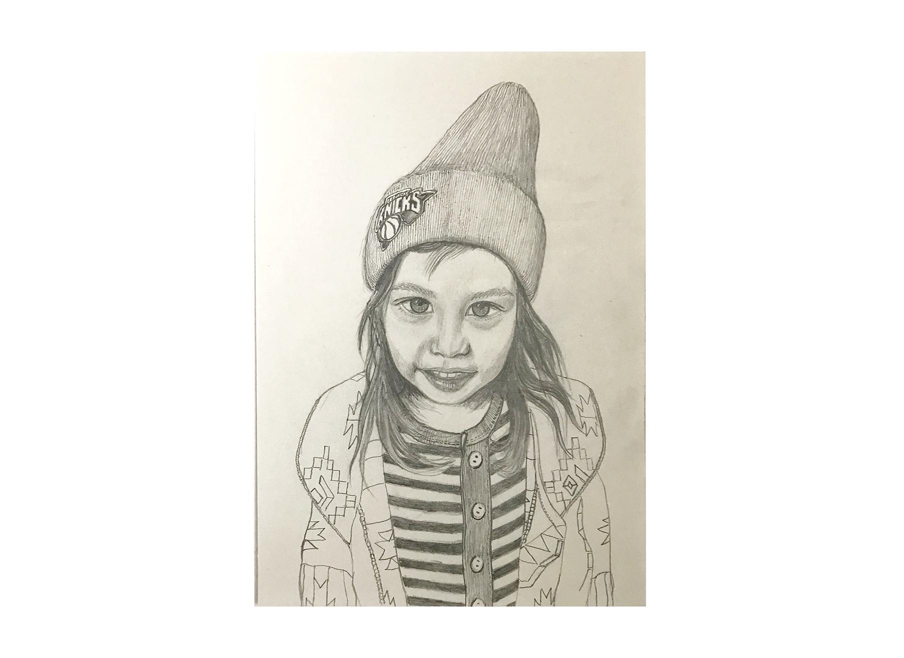 Bonnie (2015) -  Pencil on Paper