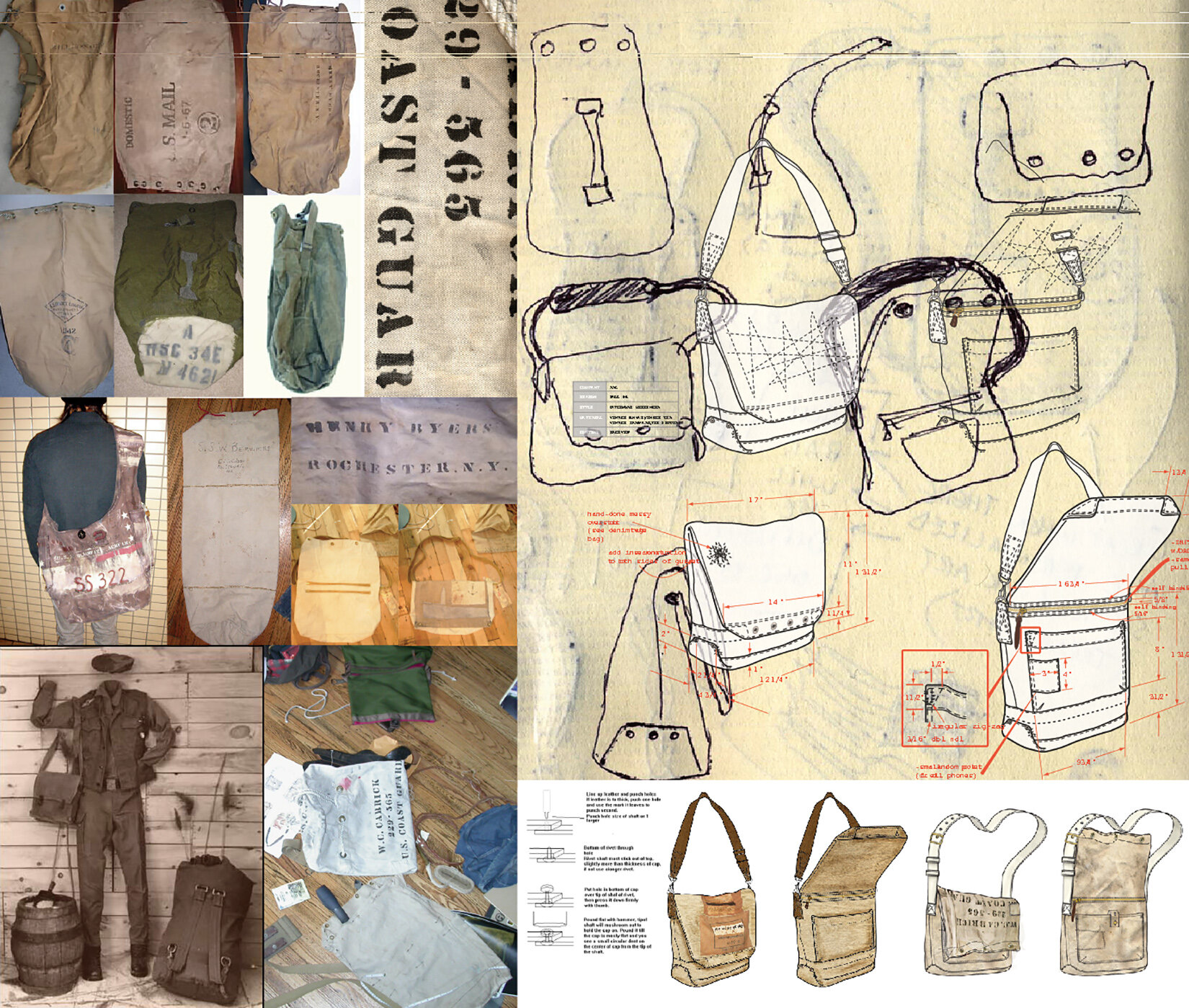 Early drawings for Vintage Model Messenger