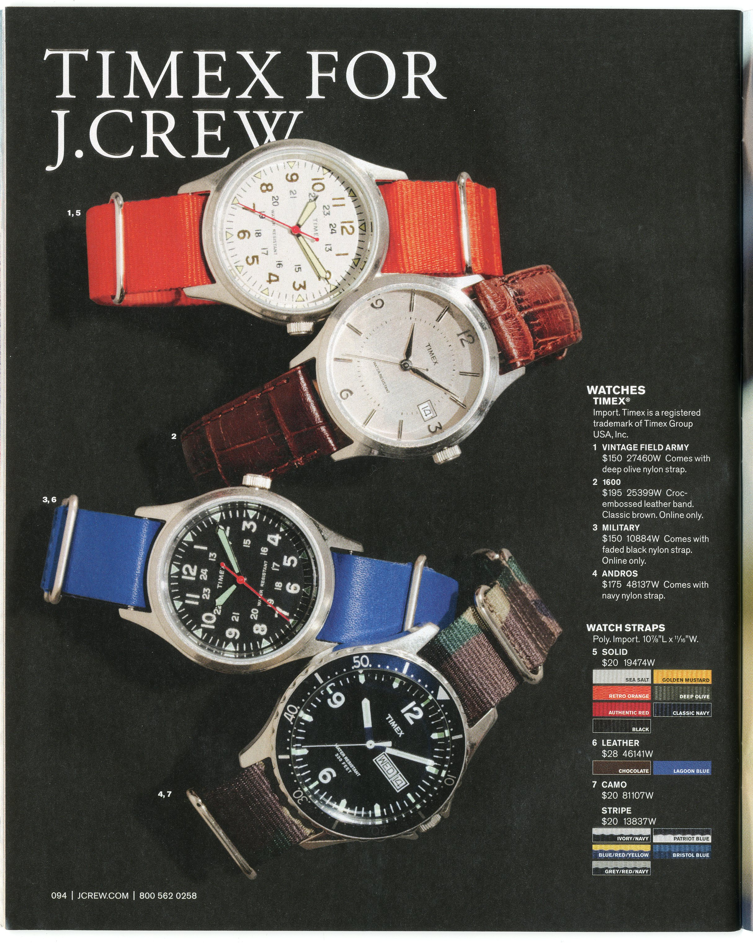 Timex for J Crew