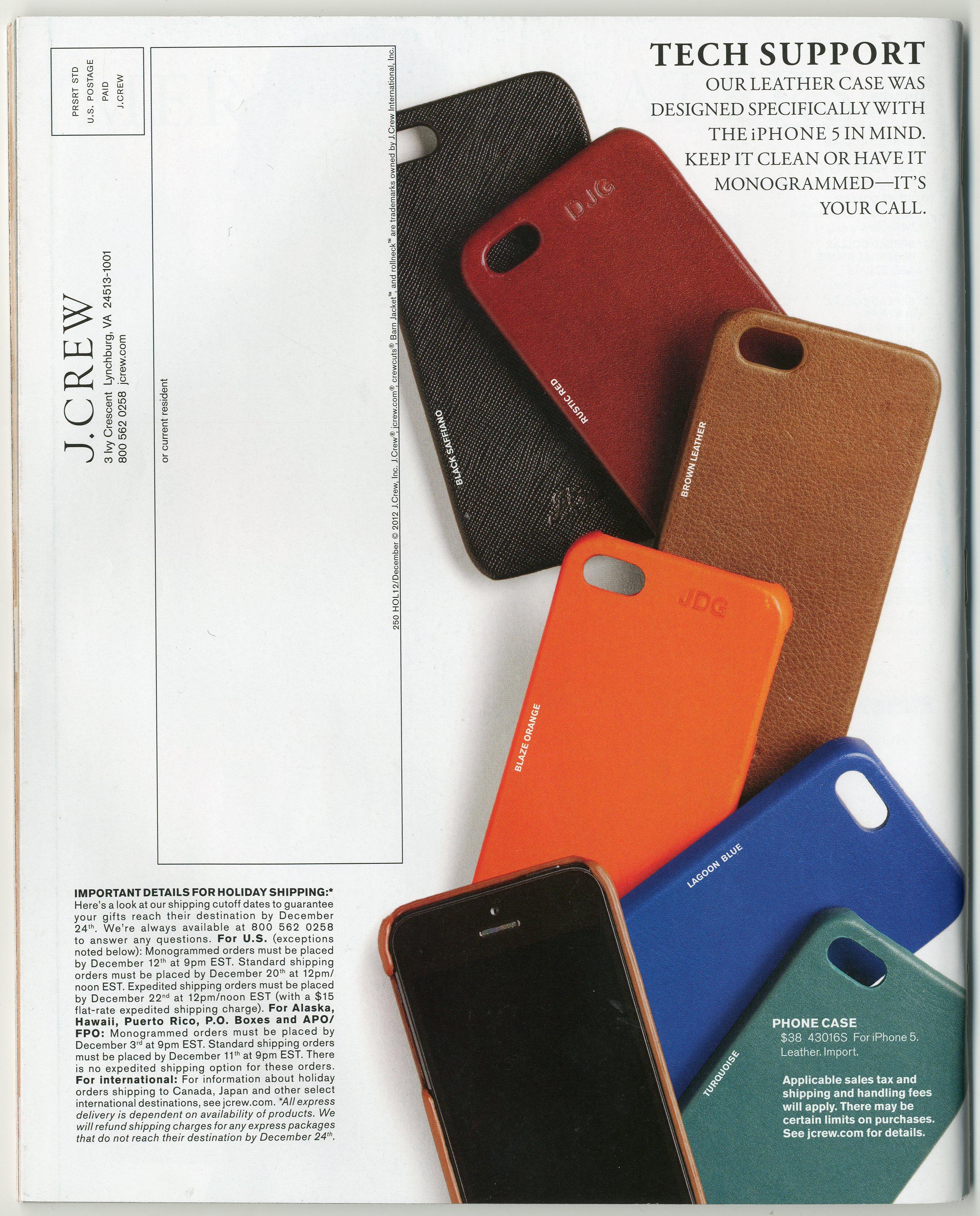 J Crew Leather iPhone Cases