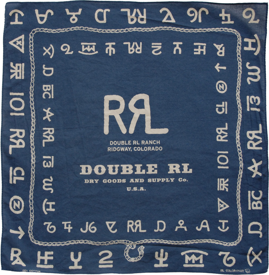 RRL 'Branding' Bandana