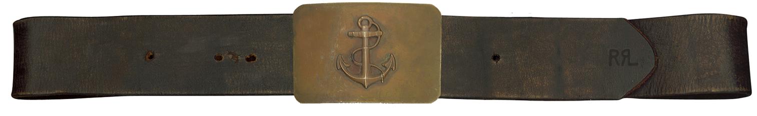 RRL Anchor Leather Belt
