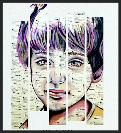 "Artwork: ""Ghouta"" by Syrian-American artist Kinda Hibrawi"