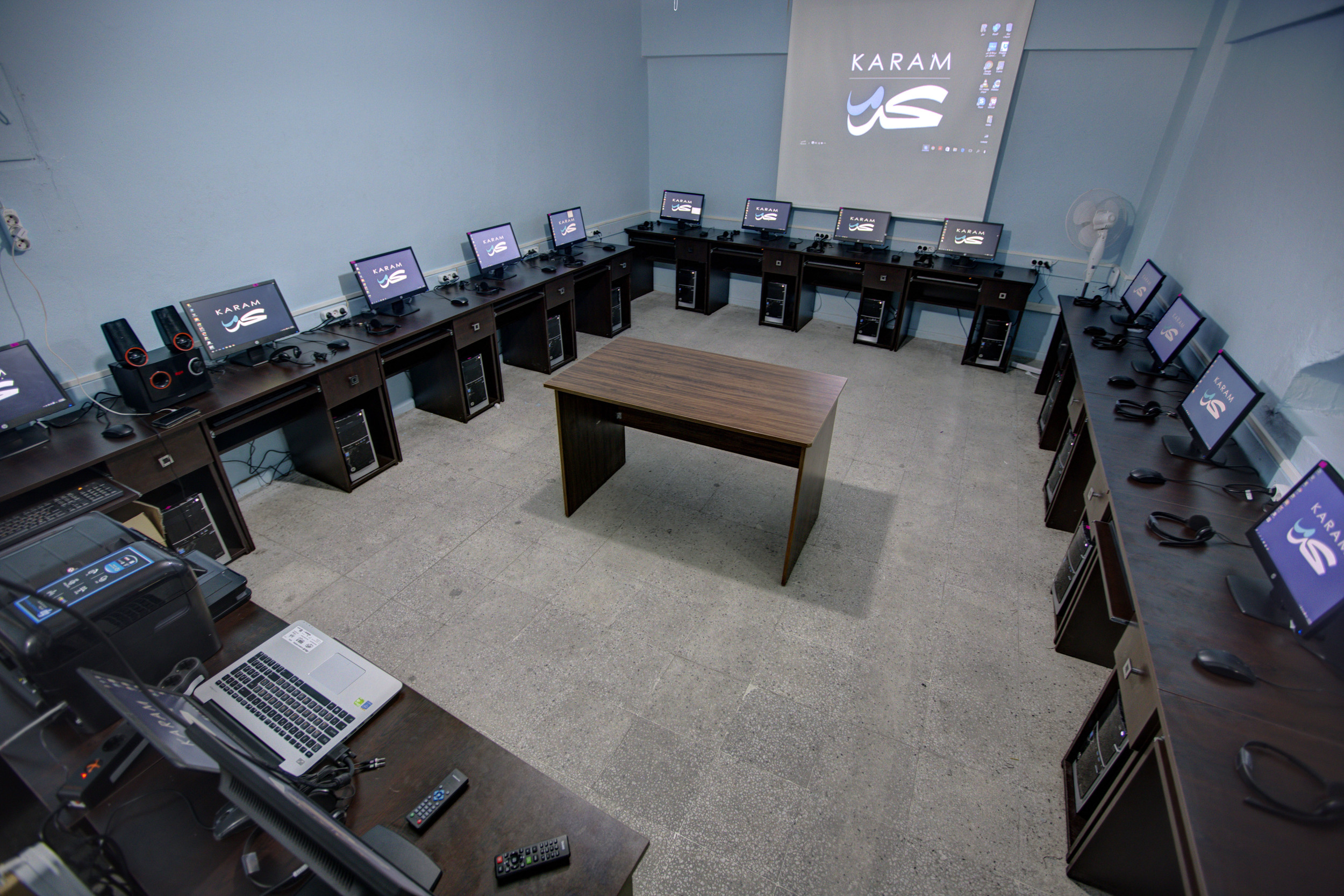 The Ruwwad School computer lab, set up by Karam