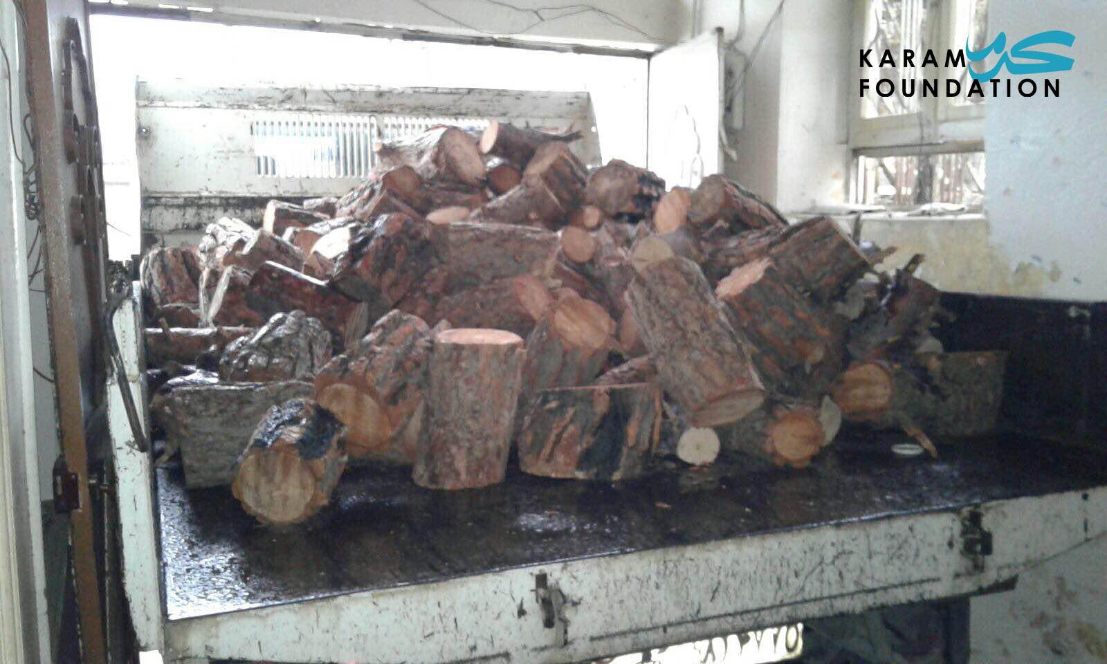 Heating wood distribution in Madaya, January 2016