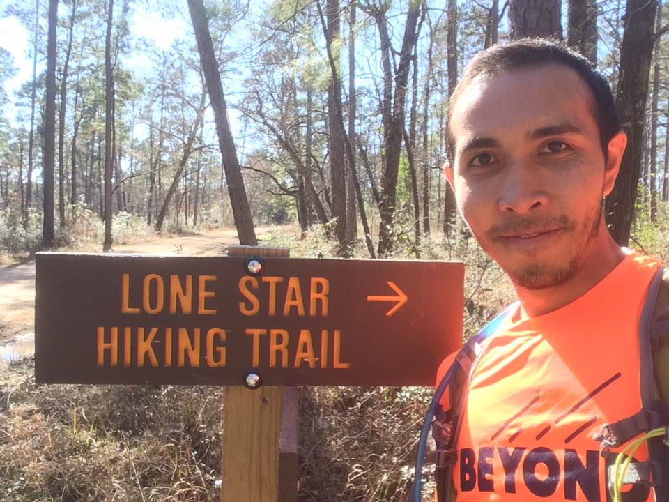 Farid on Day 12, having just completed  31.67 miles.