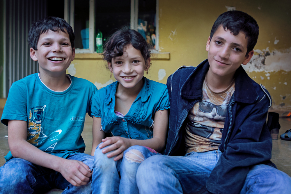 Yasmeen, Haithem, Khaled    - Syrian Refugee children who were previously working in child labor before being sponsored. Now, they love to go to school.   Click on the image to read more what each of them loves most about school!