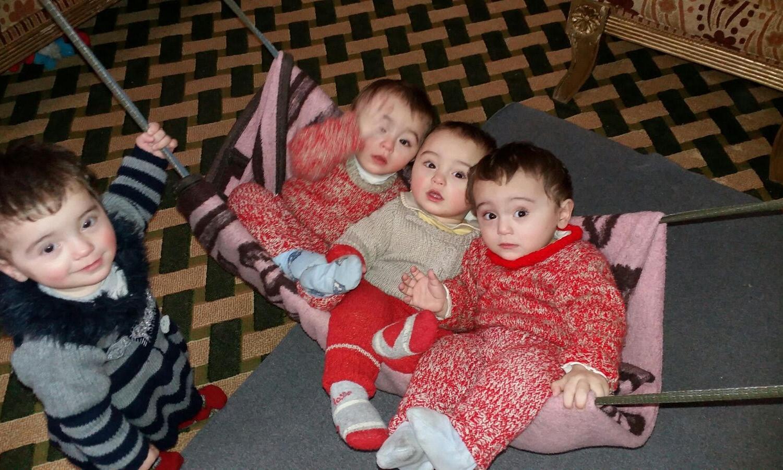 Quadruplets, age 1