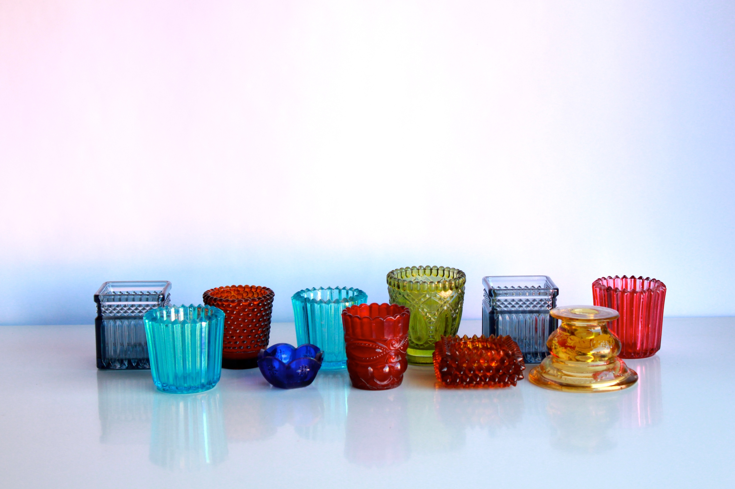Colorful Glass Votives