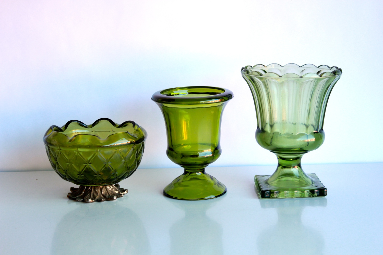 Green Glass Containers