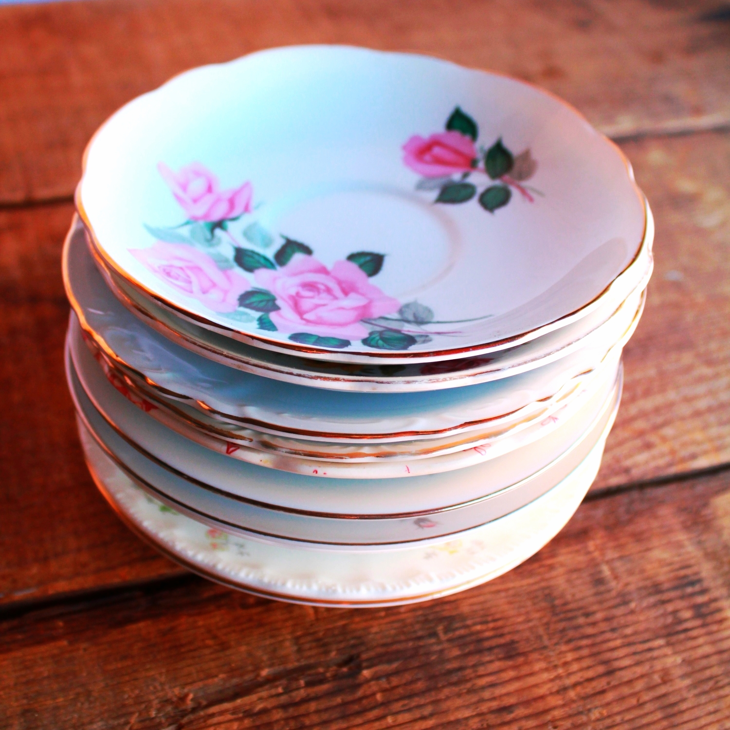 Rose Collection Tea Saucers