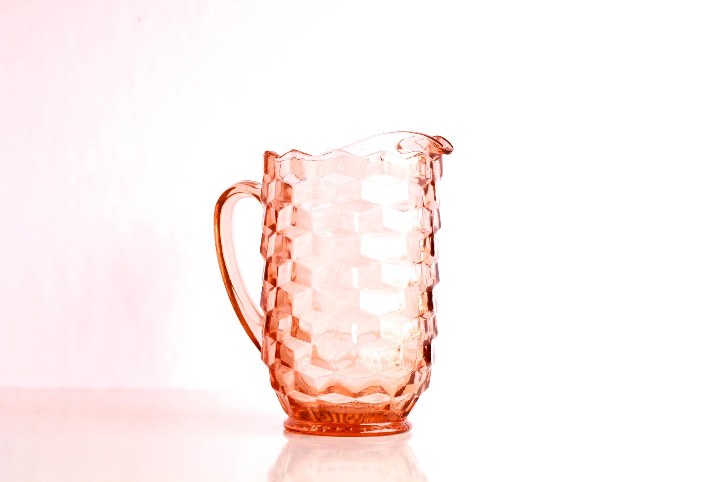 Pink Depression Glass Pitchers
