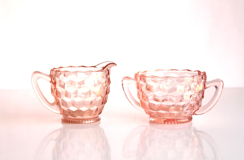 Pink Creamer + Sugar Set